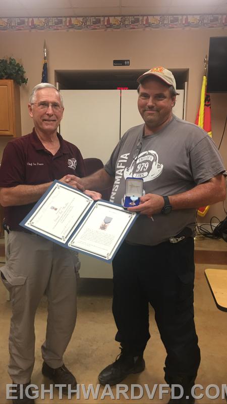 L-R: Chief Ira Brown, Ted Mocklin